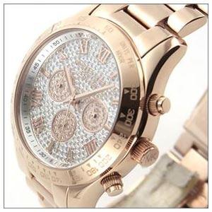 Michael Kors(マイケルコース) 煌びやかなパヴェストーンをまとったラグジュアリーな大きめサイズのレディス腕時計 MK5946 h02
