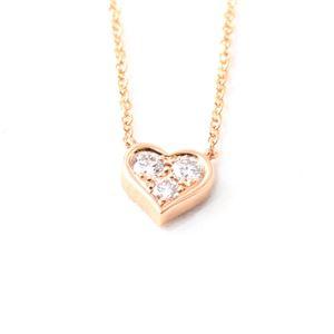 Tiffany(ティファニー) 28950136 センチメンタル ハート ダイヤモンドペンダント/ネックレス 16in 0.17ct 18KRG - 拡大画像