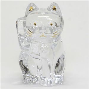 Baccarat(バカラ) LUCKY CAT 表情が可愛い☆日本生まれのラッキーモチーフ☆「招き猫」(クリア) 2607786 - 拡大画像
