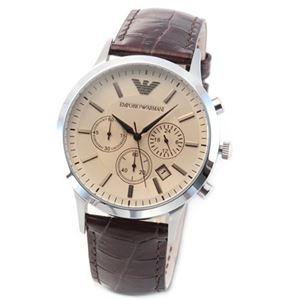 Emporio Armani(エンポリオ・アルマーニ) AR2433 クロノグラフ メンズ腕時計 - 拡大画像