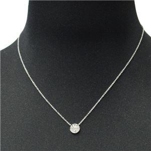 Tiffany(ティファニー) 33285973 1837 サークル ペンダント ダイアモンド 16in 18KWG ネックレス h02