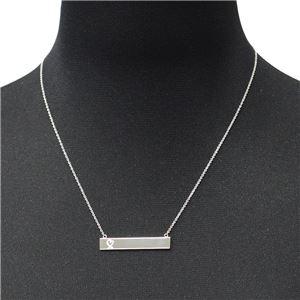 Tiffany(ティファニー) 34946035 パロマ・ピカソ ラビング ハート バー ペンダント 18in スターリングシルバー ネックレス h02