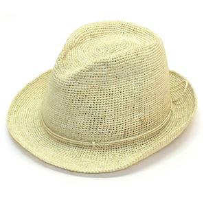 Helen Kaminski(ヘレンカミンスキー) Fai/Blonde ≪2015SS≫ファイ フェドーラハット 丸めて収納可能なラフィア製ローラブルハット レディス中折れ帽子