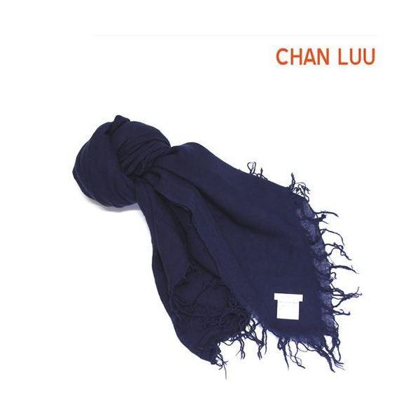 CHAN LUU(チャンルー) カシミア&シルクスカーフ マフラー 大判ストール マフラー メディバルブルー ダークブルー系 BRH-SC-140/Medival Bluef00