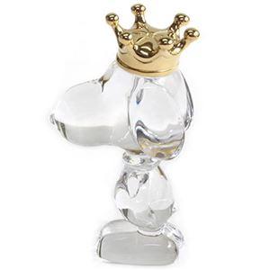 Baccarat(バカラ) CARTOON KING SNOOPY(カトゥーン キング スヌーピー) 世界中で愛されている可愛いスヌーピー ゴールドの王冠を頭に乗せたキュートフォルム 2106262 - 拡大画像