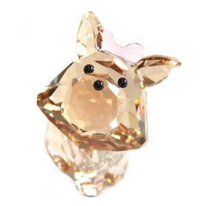 Swarovski(スワロフスキー) 5063332 Puppy - Dixie the Yorkshire Terrier キュートな子犬シリーズ ヨークシャーテリア 「ディクシー」 クリスタル フィギュア 置物 h01