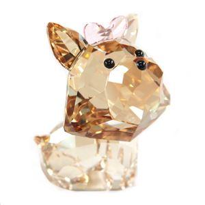 Swarovski(スワロフスキー) 5063332 Puppy - Dixie the Yorkshire Terrier キュートな子犬シリーズ ヨークシャーテリア 「ディクシー」 クリスタル フィギュア 置物 h02