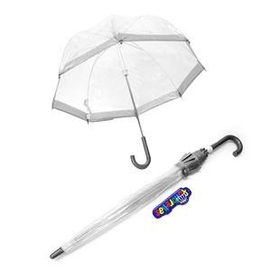 FULTON(フルトン) C603 5835 Funbrella-2 Silver 子供用 キッズ用 ビニール傘 長傘 バードケージ ミニ アンブレラ 英国王室御用達ブランド
