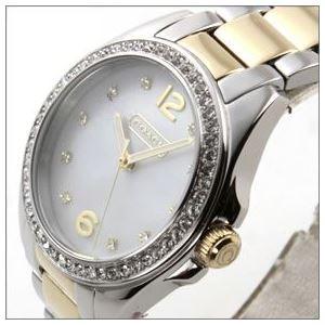 Coach(コーチ) ダイヤルにはシェルの輝きとラインストーン ラグジュアリーなレディス腕時計 14501659 h02