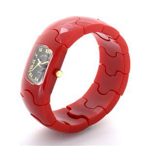Time Will Tell(タイムウィルテル) Solid-PZ-RE-M HAMPTON レッド 腕時計 h02