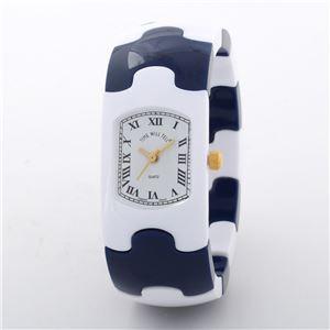 Time Will Tell(タイムウィルテル) Solid-PZ-WH-NA-M HAMPTON ホワイト・ネイビー 腕時計