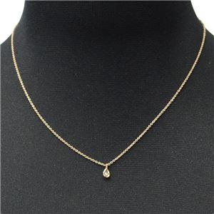 Tiffany&CO(ティファニー)33400055 エルサ・ペレッティ ダイヤモンド バイ ザ ヤード ペンダント ペアシェイプ 0.07ct 16in 18KRG ネックレス h02