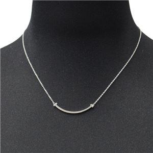 Tiffany&CO(ティファニー)35189424 Tiffany T スマイル ペンダント ミニ 18KWG ネックレス h02