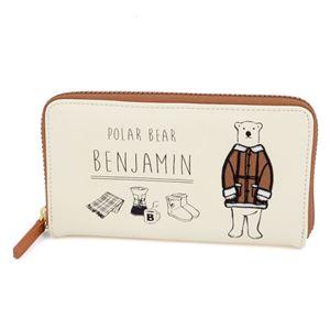 anello(アネロ) ZH-L0282-CA POLAR BEAR BENJAMIN オシャレなシロクマ ベンジャミン ラウンドファスナー長財布 h01