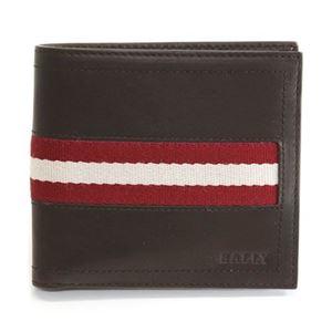Bally(バリー) TYE 271 CHOCOLATE 小銭入れ付 二つ折り財布 型押しカーフ - 拡大画像