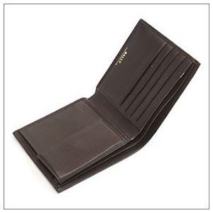 Bally(バリー) TYE 271 CHOCOLATE 小銭入れ付 二つ折り財布 型押しカーフ h02