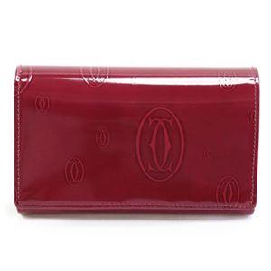 Cartier(カルティエ) 二つ折り財布 L3000347 HAPPY BIRTHDAY ハッピーバースデー 2Cロゴ型押し L字ファスナー小銭入れ付 - 拡大画像