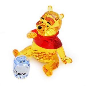 SWAROVSKI(スワロフスキー)1142889 Winnie the Pooh ディズニー くまのプーさん 「プーさんとハチミツの壺」 クリスタル フィギュア 置物 - 拡大画像
