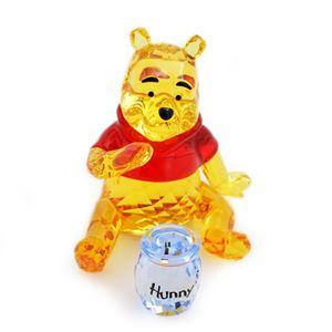SWAROVSKI(スワロフスキー)1142889 Winnie the Pooh ディズニー くまのプーさん 「プーさんとハチミツの壺」 クリスタル フィギュア 置物 h02