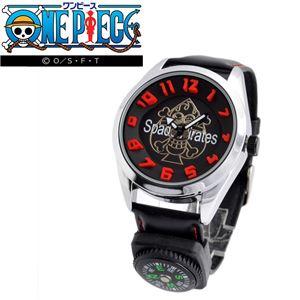 ONE PIECE(ワンピース)OP009A ログポース付 3Dインデックス ウォッチ 「ポートガス・D・エース」 メンズ 腕時計