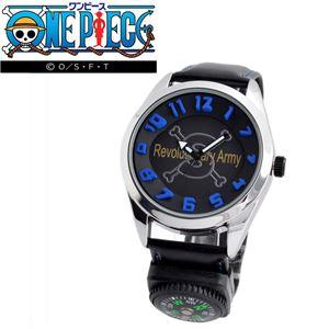 ONE PIECE(ワンピース)OP009S ログポース付 3Dインデックス ウォッチ 「サボ」 メンズ 腕時計