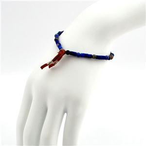 CHAN LUU(チャンルー) BSM-1630 BLU MIX メンズ シングルブレスレット Pull Tie ソーダライト ブルーミックスビーズ h03