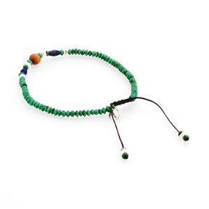CHAN LUU(チャンルー) BSM-1638 TQ MIX メンズ シングルブレスレット Pull Tie ターコイズ/ボーン/ウッドビーズ ミックス h02