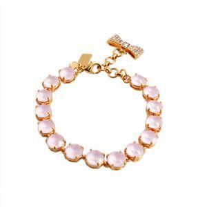 KATE SPADE(ケイトスペード) WBRUB814-665 Light Pink リボンチャーム付 スワロフスキークリスタル ブレスレット Fancy That Bracelet h01