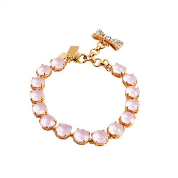 KATE SPADE(ケイトスペード) WBRUB814-665 Light Pink リボンチャーム付 スワロフスキークリスタル ブレスレット Fancy That Braceletf00