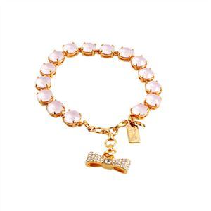 KATE SPADE(ケイトスペード) WBRUB814-665 Light Pink リボンチャーム付 スワロフスキークリスタル ブレスレット Fancy That Bracelet h02