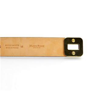 MAISON BOINET(メゾンボワネ) 95017G 79 49 Gray Blue M ヒネリ金具 レザー ブレスレット バングル 30mm h02