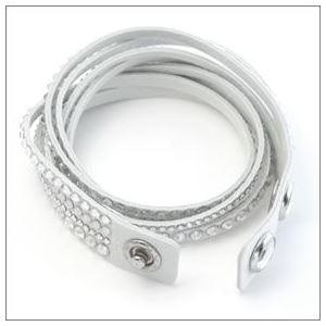 Swarovski(スワロフスキー) Slake Deluxe White ダブルラップ 2重巻タイプ(8連) クリスタル ブレスレット 5120520 h03