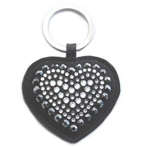 Swarovski(スワロフスキー) Betty Deluxe Black Heart Key Ring ハート型 クリスタル キーリング キーホルダー 5080943 h01