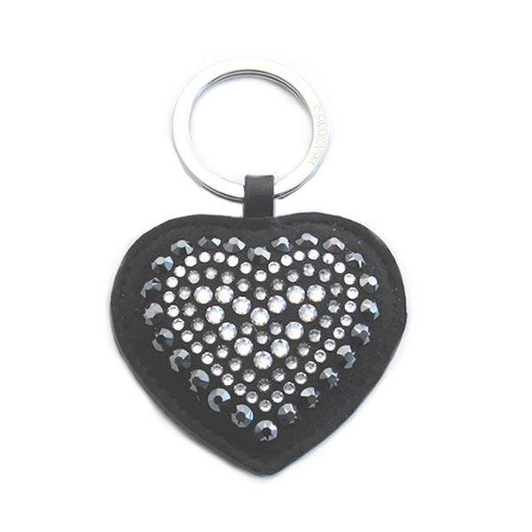 Swarovski(スワロフスキー) Betty Deluxe Black Heart Key Ring ハート型 クリスタル キーリング キーホルダー 5080943f00
