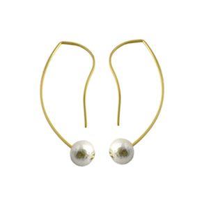by boe(バイボー) E496-GF-MWP White Cotton pearl コットンパール ワイヤー ミニ ピアス h01