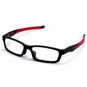 OAKLEY(オークリー) メガネ フレーム OX8029-0856/CROSSLINK FR サテンブラック レッド アジアンフィット h01