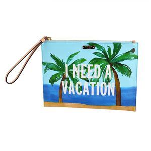 Kate Spade(ケイトスペード) PWRU5048 974 Multi トロピカルビーチ プリント クラッチバッグ ハンドポーチ Breath Of Fresh Air Vacation Medium Bella Pouchの写真1