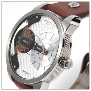 DIESEL(ディーゼル) 腕元を主張する3Dインデックス。2Time表示のブレス・ウォッチ DZ7309 h02