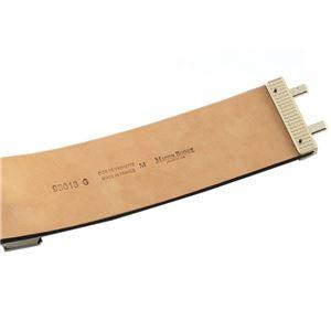 Maison Boinet(メゾンボワネ) 95018G-79-77-M Gabardine ボタン金具 レザー ブレスレット バングル 50mm h02