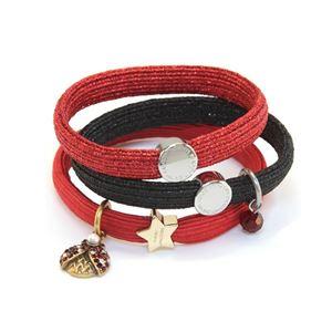 MARC JACOBS(マークジェイコブス) M0009975-601 Red Multi Ladybug Cluster Pony クラスターポニー てんとう虫チャーム ヘアゴム3本セット ブレスレットにも♪