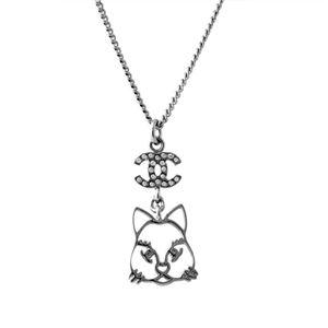 CHANEL(シャネル) 96341 ARGENT/CRISTAL ネコモチーフ 猫 キャットデザイン COCO ココマーク CCロゴ×クリスタル ネックレス ペンダント h01