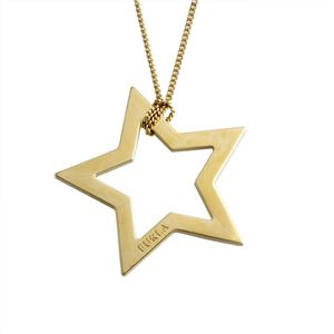 FURLA(フルラ) 833282 CO36 MT0 COLOR GOLD 星型 スターモチーフ ロング ネックレス ペンダント VALENTINA NECKLACE STELLA BIG h01