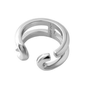 MARC JACOBS(マークジェイコブス) M0009229-040 #6 Silver 「J」ロゴモチーフ アイコン リング 指輪 日本サイズ11号相当 Icon Band Ring h02