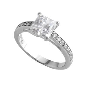 SWAROVSKI(スワロフスキー) 5032914 Attract Square クリスタル/クリスタルパヴェ リング 指輪 サイズ50(日本サイズ9号) h01