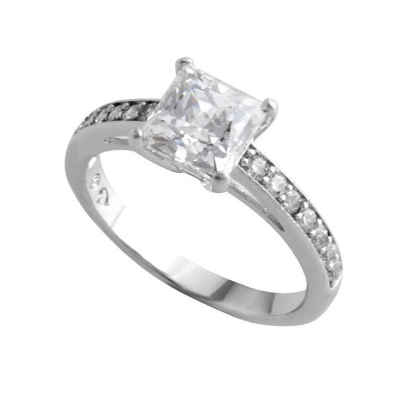 SWAROVSKI(スワロフスキー) 5032914 Attract Square クリスタル/クリスタルパヴェ リング 指輪 サイズ50(日本サイズ9号)f00
