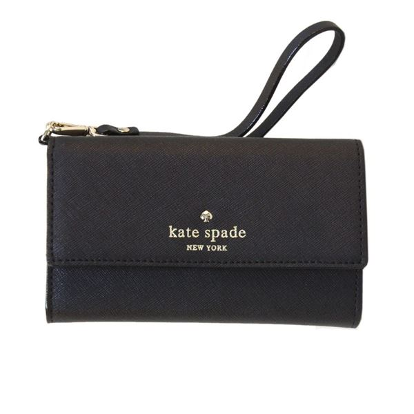 Kate Spade(ケイトスペード) 8ARU1099 001 Black ストラップ付 アイフォンケース (iphone6・6s専用) スマホバッグ Cedar Street IPhone 6 Leather Wristletf00