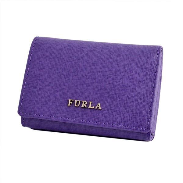 FURLA(フルラ) 816950 PN75 B30 VIOLA バビロン パスケース付 三つ折り ミニ財布 BABYLON S TRIFOLDf00
