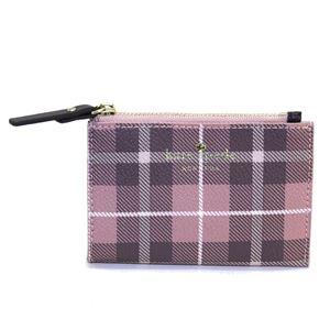 Kate Spade(ケイトスペード) PWRU5132 654 Pink Bonnet Multi チェック柄 キーリング付 コインケース Farimont Square Cori h01
