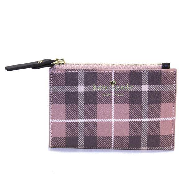 Kate Spade(ケイトスペード) PWRU5132 654 Pink Bonnet Multi チェック柄 キーリング付 コインケース Farimont Square Corif00