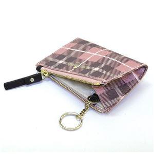 Kate Spade(ケイトスペード) PWRU5132 654 Pink Bonnet Multi チェック柄 キーリング付 コインケース Farimont Square Cori h02